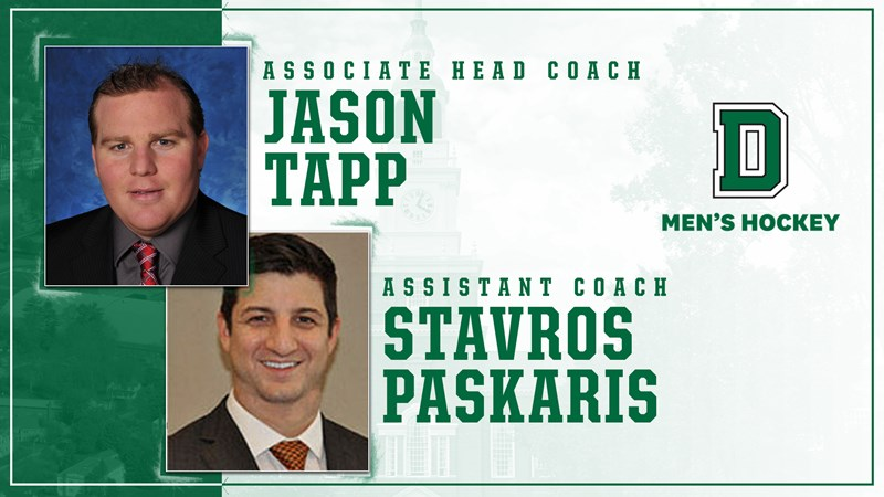 Jason Tapp and Stavros Paskaris Join Men's Hockey Coaching Staff - Dartmouth College Athletics